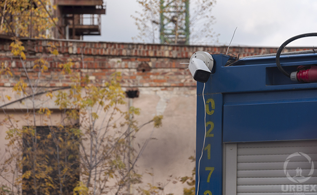 security camera on urbex