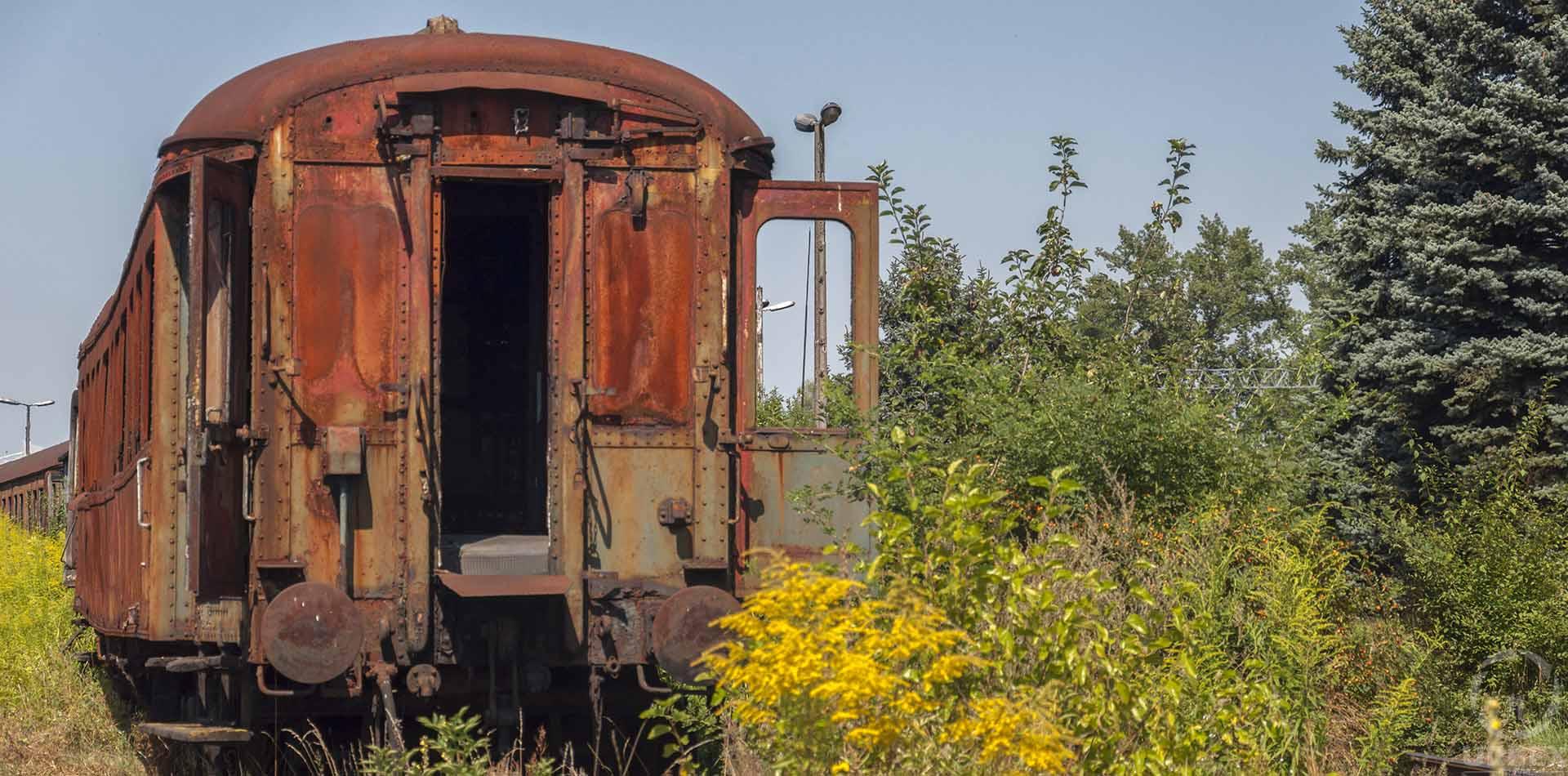 old locomotives in Krakow
