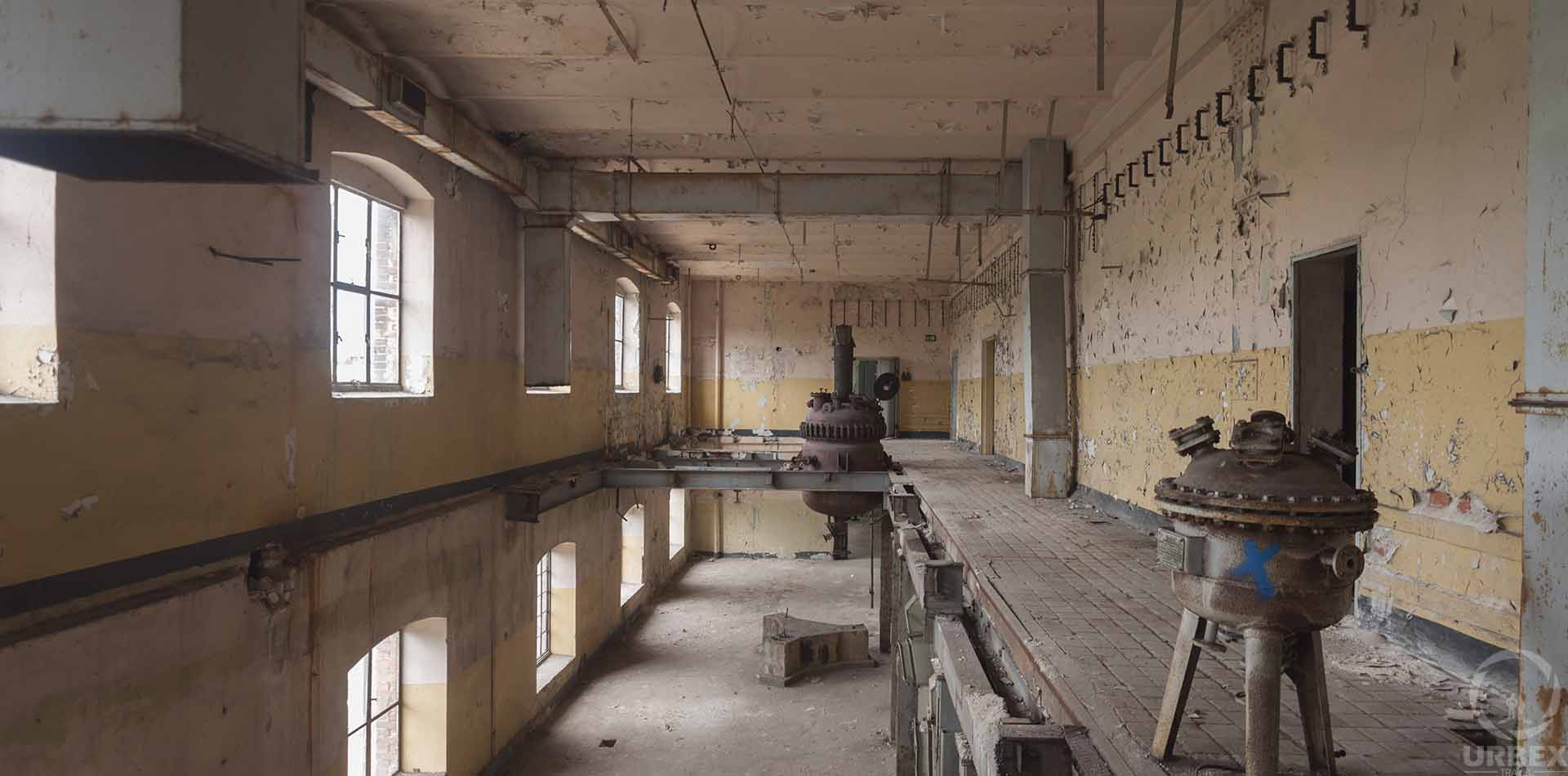 abandoned forgotten factory in warsaw