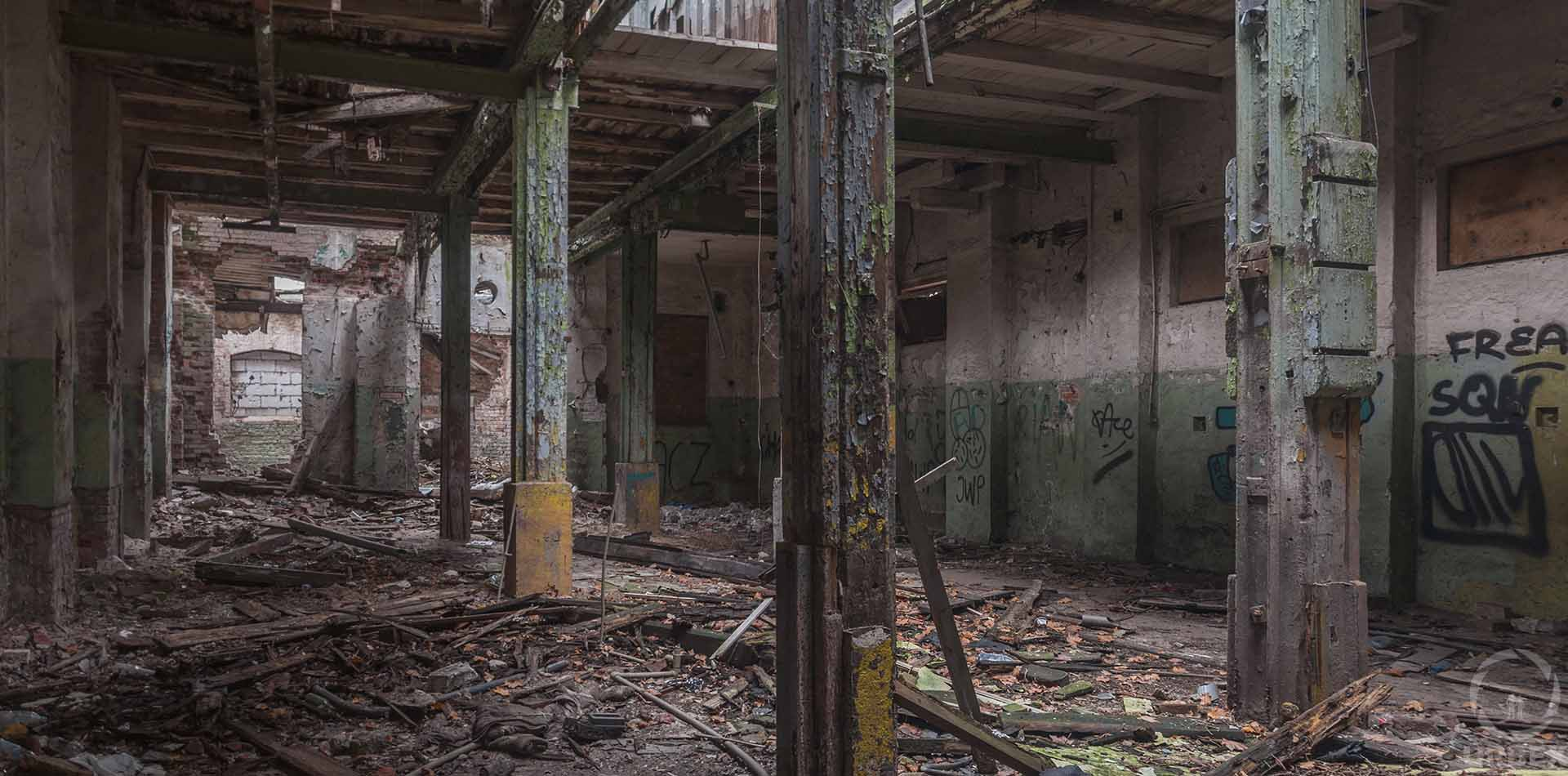 abandoned factory of armored safes in warsaw