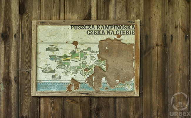 map in the middle of the forest