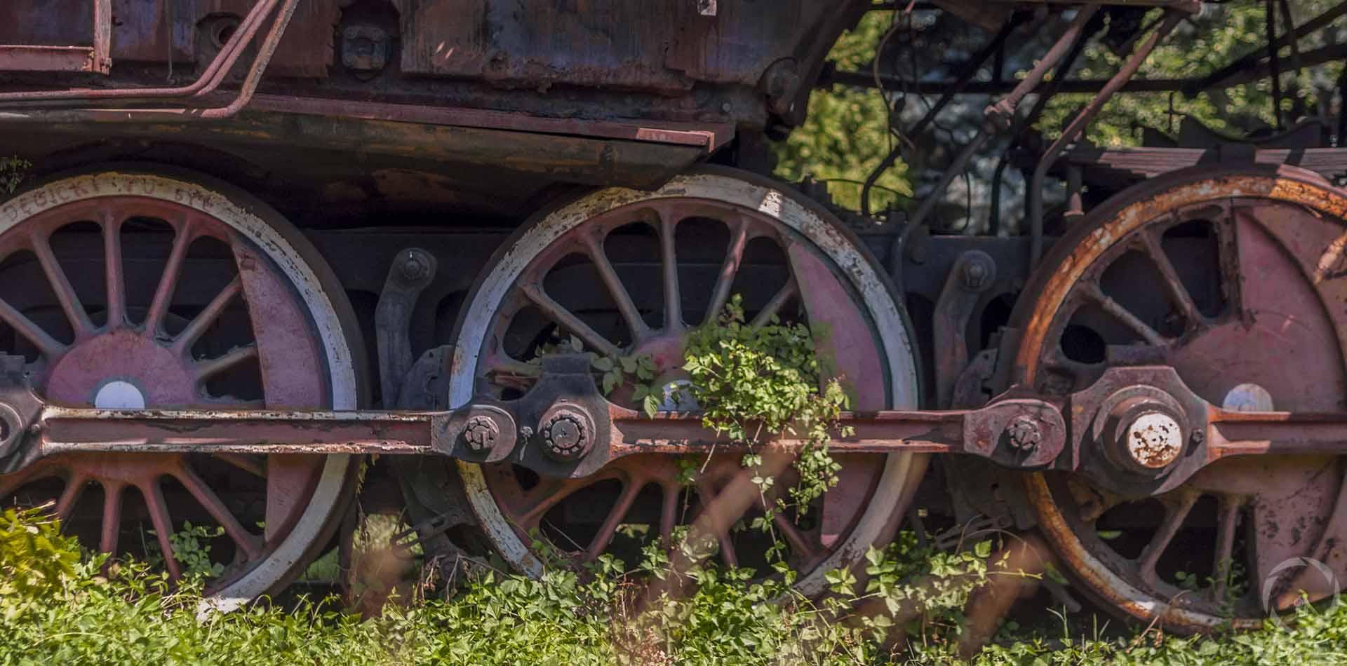 an abandoned train graveyard in Krakow