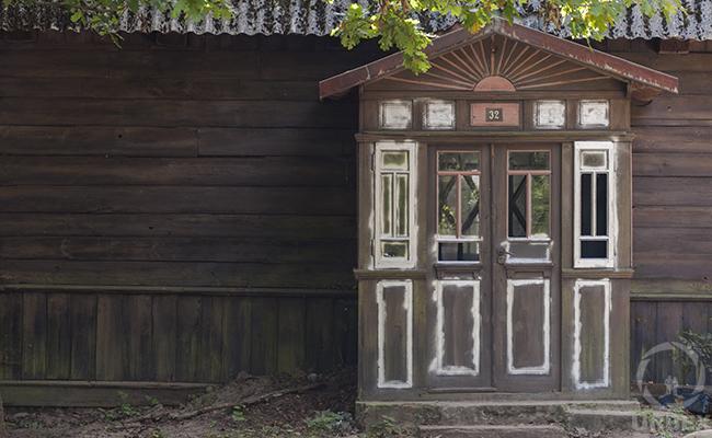vestibule of an abandoned house