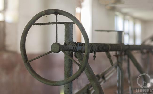 na old machine in an abandoned farm