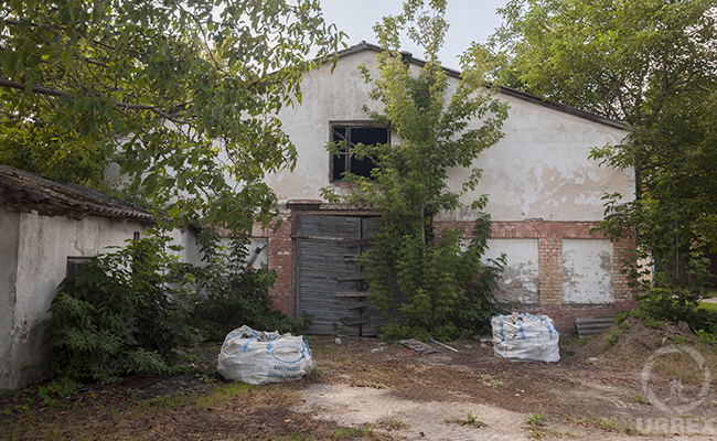 destroyed farm in Poland