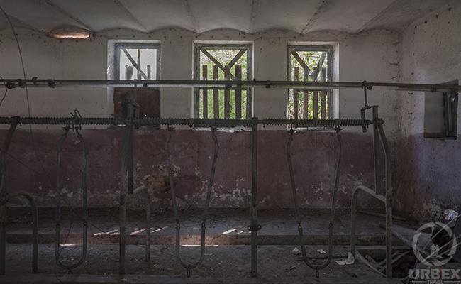 open window in an abandoned building