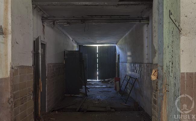 rusty doors in an abandoned building