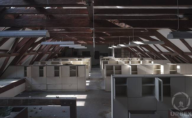 abandoned office buildings