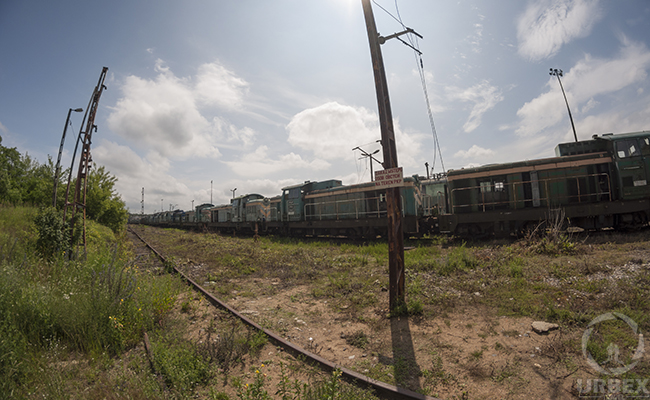 old abandoned trains