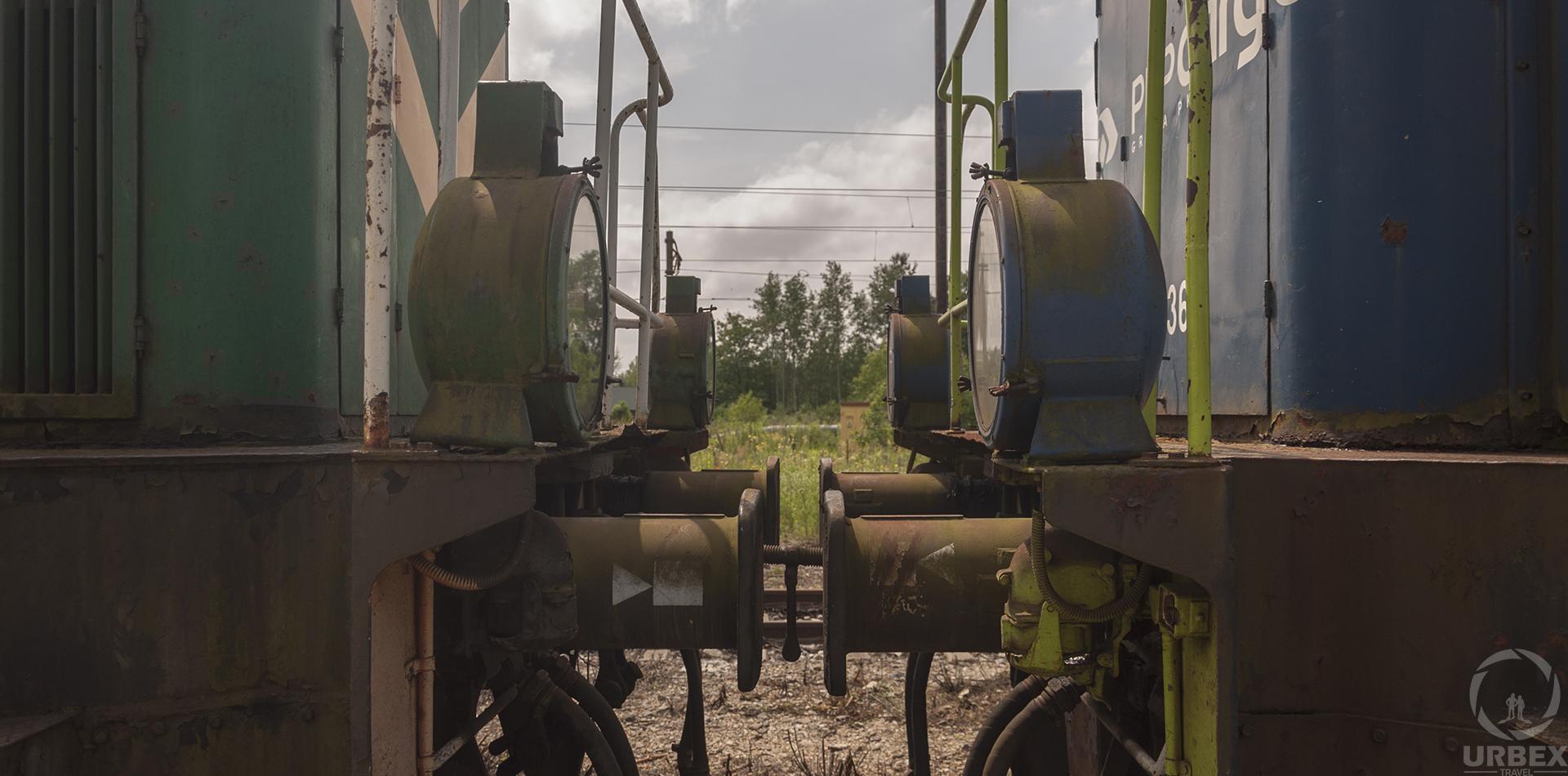 The Train Graveyard In Łódź