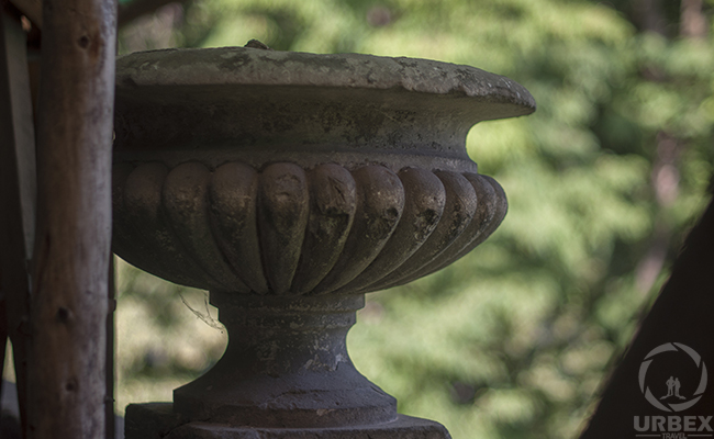 old vase in abandoned palace