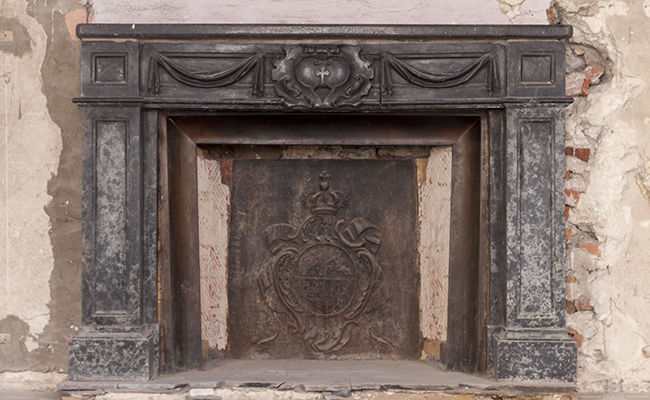 fireplace in a haunted palace