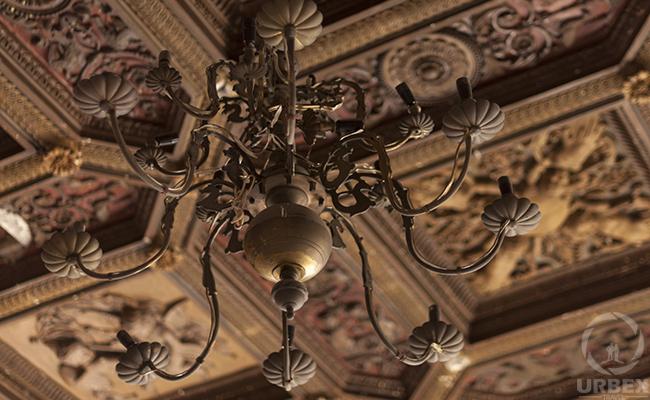 chandelier in italian style palace