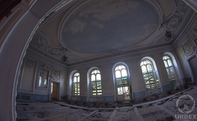 ball room in an abandoned palace