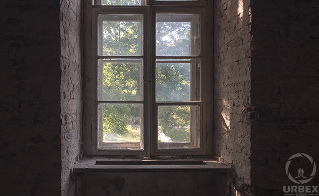 windows in a haunted palace