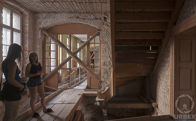 decaying construction in an abandoned palace