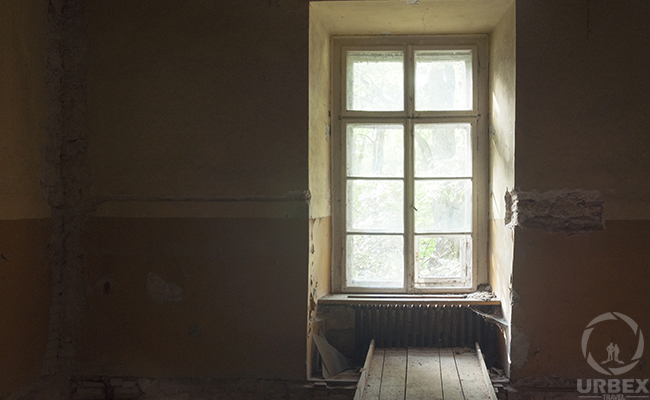 abandoned room in old palace
