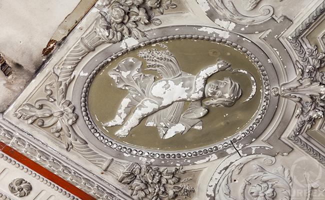 white baroque molding