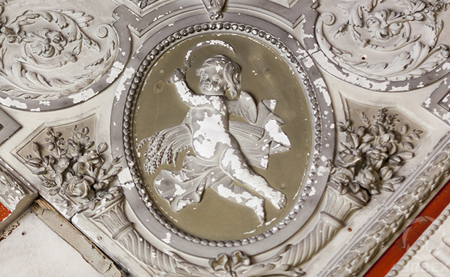 italian mold in an abandoned palace