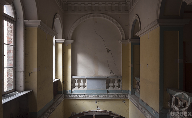 abandoned palace in Pilica inside