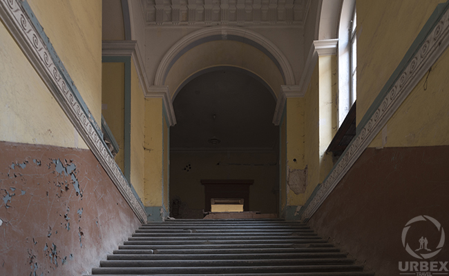 stairs in an abandoned palace