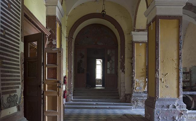 Haunted castle foyer