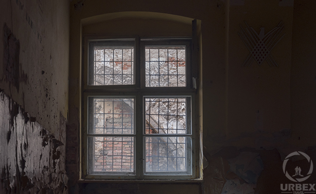 window in an abandoned palace