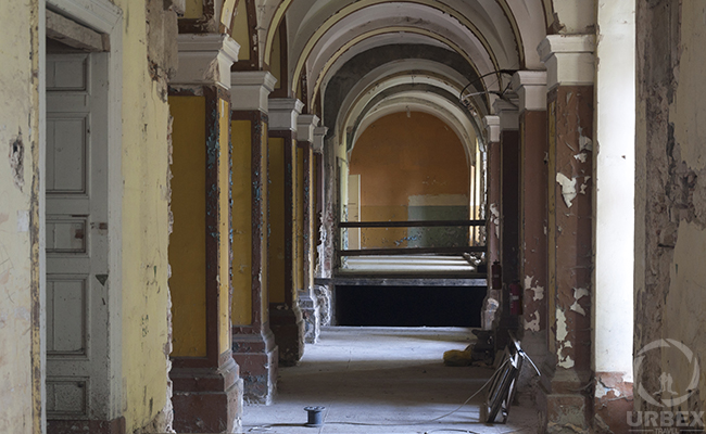 perspective in an abandoned chateau in Pilica