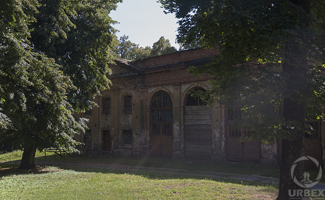 stables in an abandoned haunted palace in poland