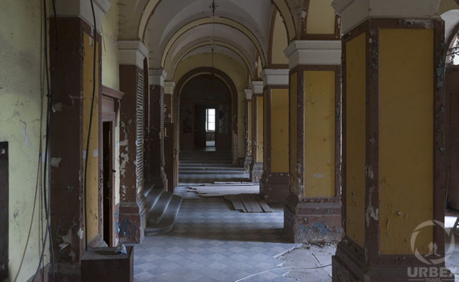 perpective in an abandoned palace in Pilica