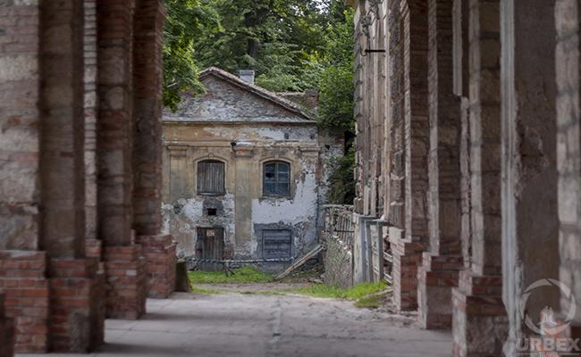 abandoned brick building