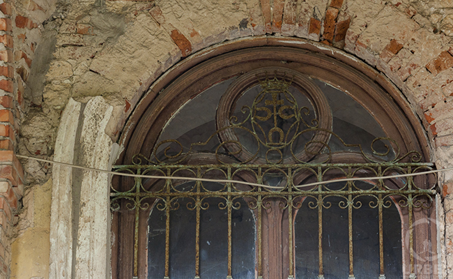 window in abandoned palace