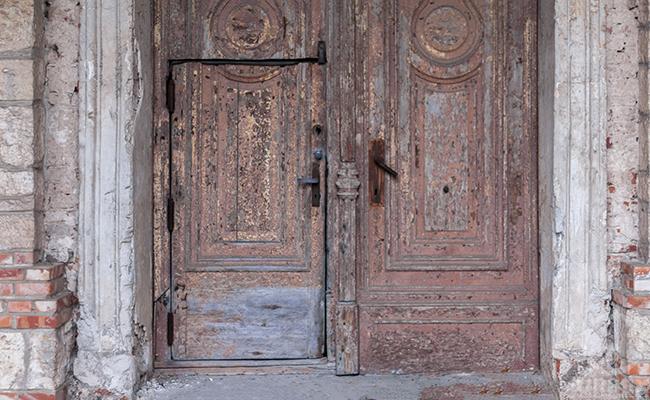 big wooden old doors