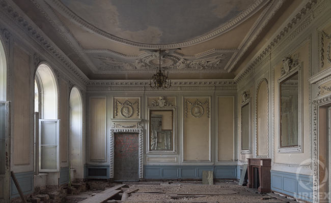 ballroom in the old haunted castle in Pilica