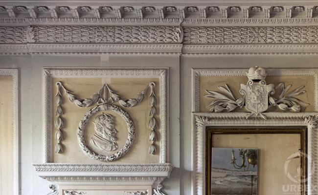 baroque molds in an abandoned palace
