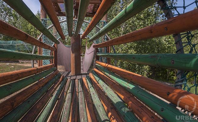 man ray night sun abandoned playground