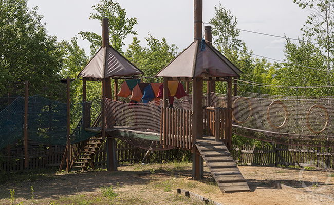 stock photo abandoned playground
