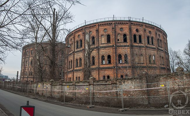 abandoned gasworks in Warsaw