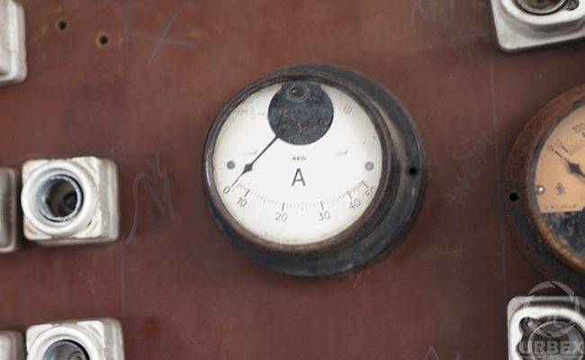 Electric Meter In An Abandoned Building