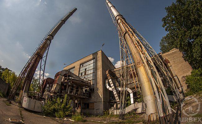 abandoned chimneys near Warsaw