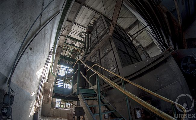 urban exploration in an abandoned building