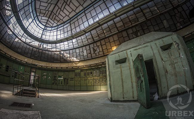 Bunker in Abandoned Power Plant in Budapest Kelenfold Control Room