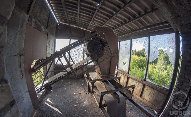 broken window in an abandoned building