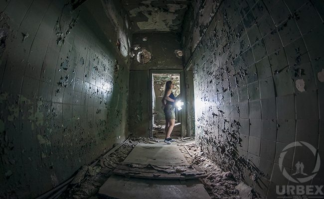 Flashlight in abandoned places