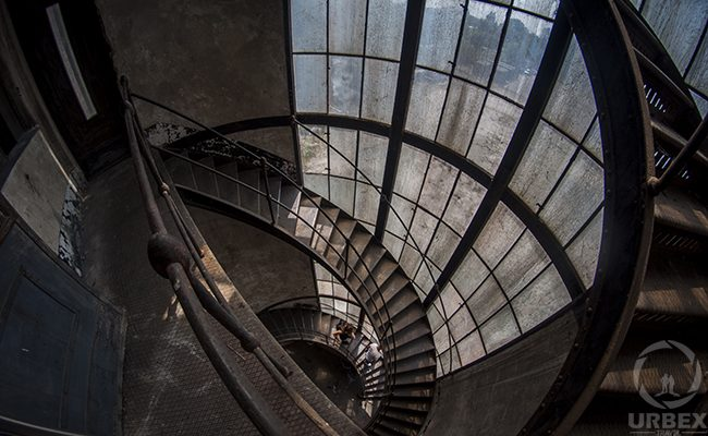 Stairs in Abandoned Kelenföld Power Plant