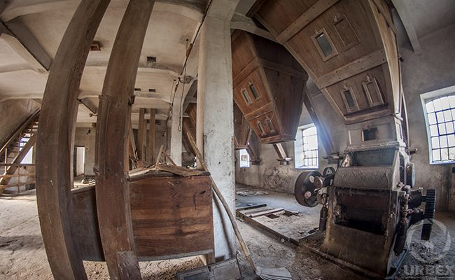 Wooden Device In An Abandoned Water Mill