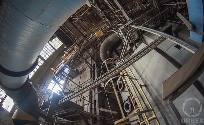 an industrial construction on urbex