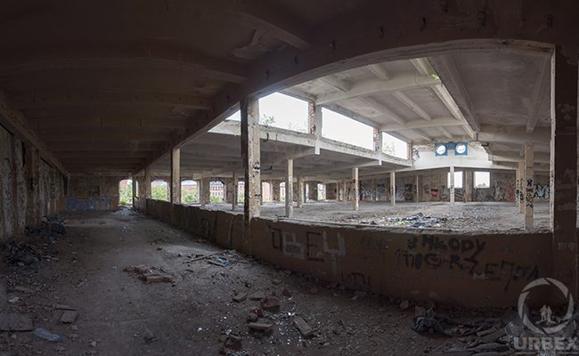 abandoned uniontex factory fisheye photo