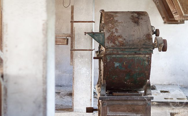 Rusty Device In An Abandoned Water Mill